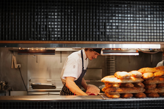 Luxe travel - Hobart Gourmania Food Tours - Sous chef at work at Smolt restaurant by Jonathan Wherrett