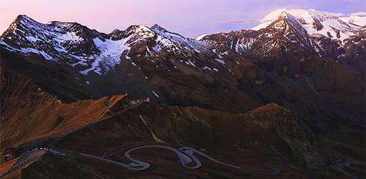 The Alps by Classic Car