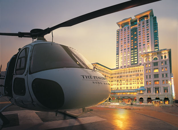 the peninsula hong kong helicopter