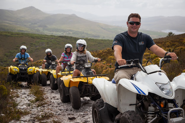 quad biking at grootbos in south africa