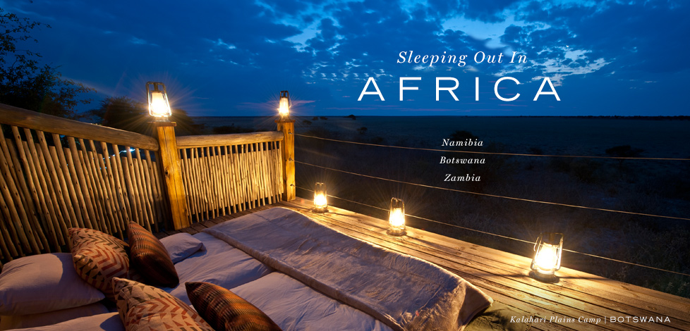 Sleeping Out in Africa