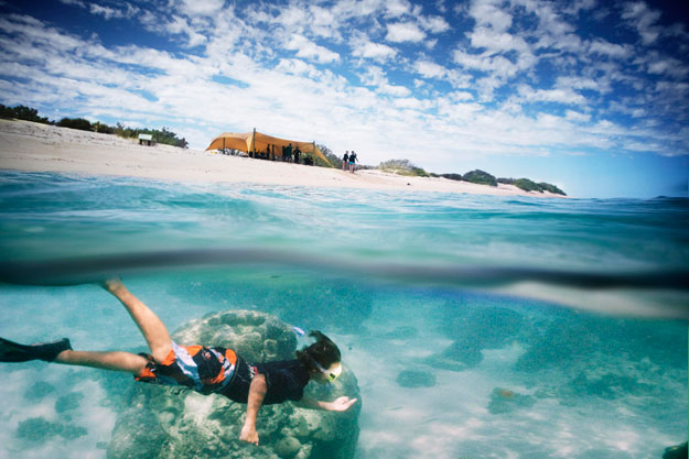 Australia Bucket List | Sal Salis Snorkeling | Luxury Australia Travel | Ker Downey